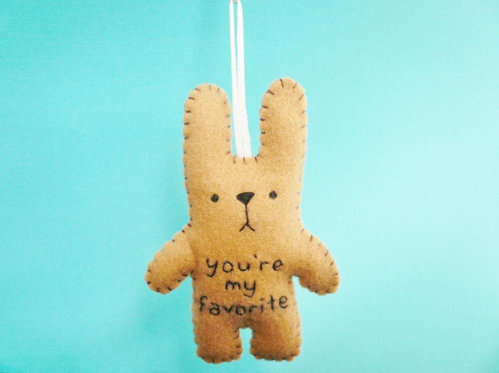 Reserved Listing For Jennifer Felt Stuffed Animals 01 Funny Bunny You Re My Favorite On Luulla