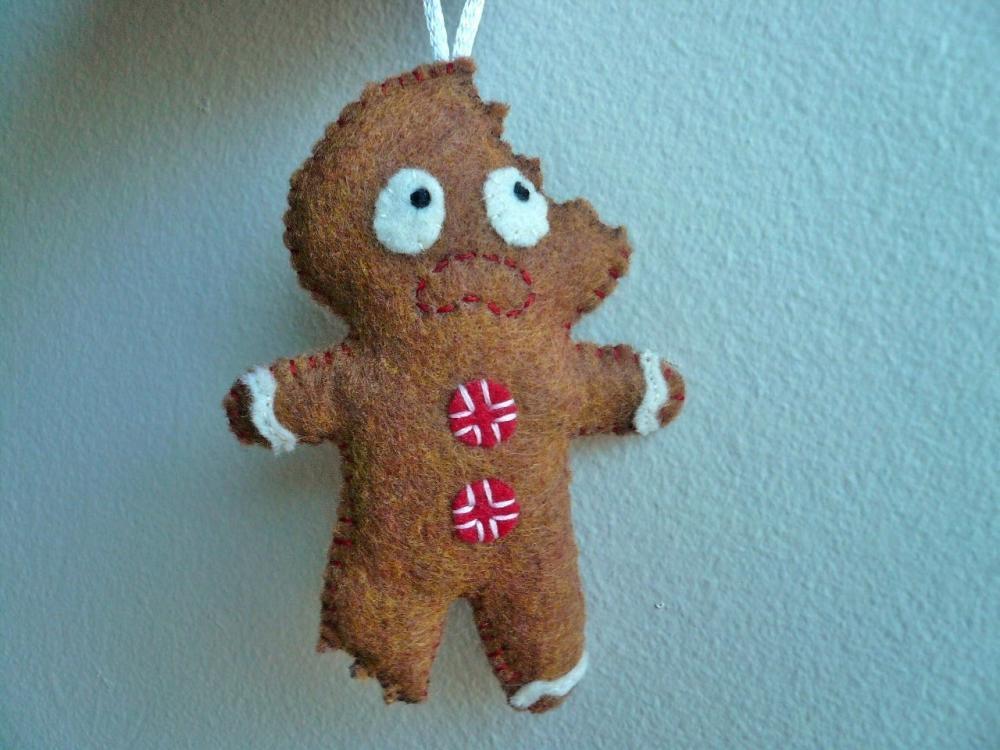 Felt Ornaments, Gingerbread Man, Gifts for men