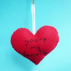 You're my favorite Heart Ornament