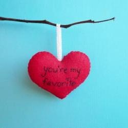 Handmade Heart Ornament You're my favorite