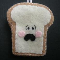 Funny Toast Ornament - Terrified Toast